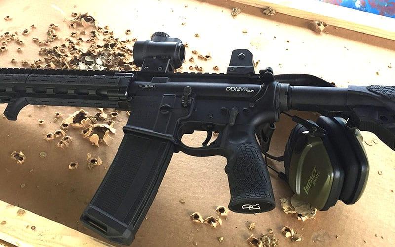 Daniel Defense DDM4 SLW V11 Bullet Holes
