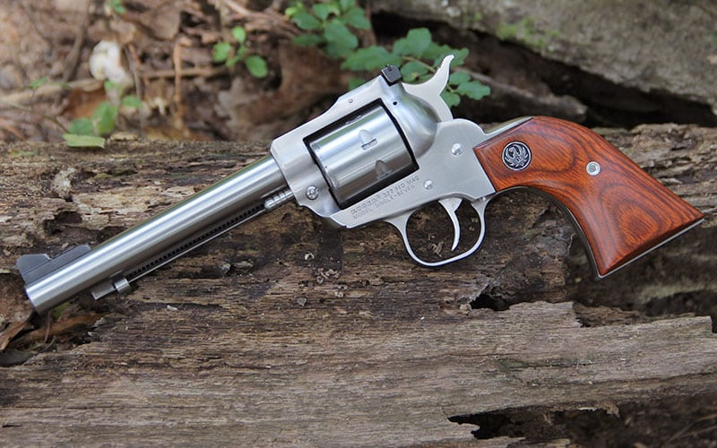 Ruger Single Seven Revolver On Log
